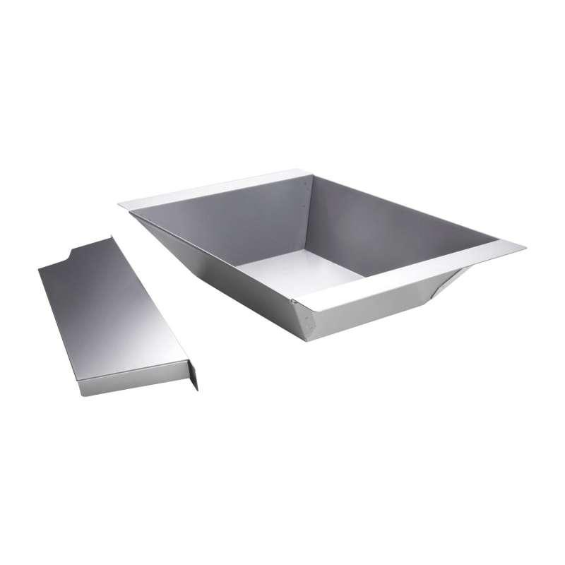 Allgrill Holzkohleeinsatz für Gasgrill Chef S/M/L/XL, Ultra, Extreme, Outdoorküche 30x46 cm Edelstah