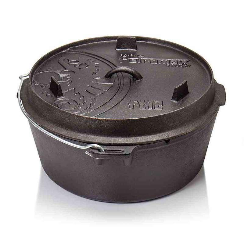 Petromax Feuertopf 18qt FT18T ohne Füße 16,1 Liter Gusseisen 43,5x21x43,5 cm