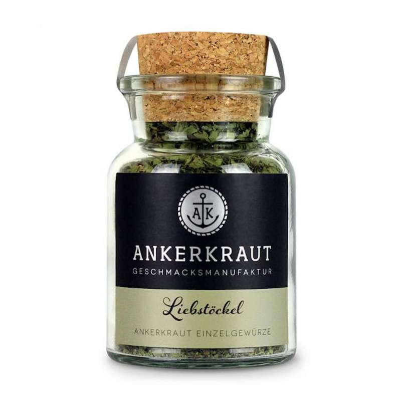 Ankerkraut Liebstöckel gerebelt Gewürz Maggikraut Kräuter Grillgewürz Korkenglas 15 g