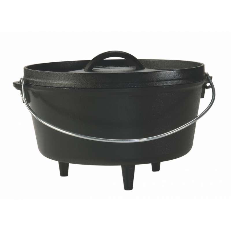 Rumo Barbeque Lodge Cast Iron Camp Dutch Oven Topf inkl. Deckel 4,7 Liter