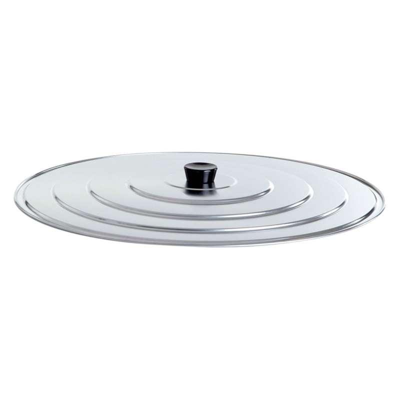 Paella World Universal-Deckel aus Aluminium Ø 55 cm für Paella-Pfanne Gusseisenpfanne