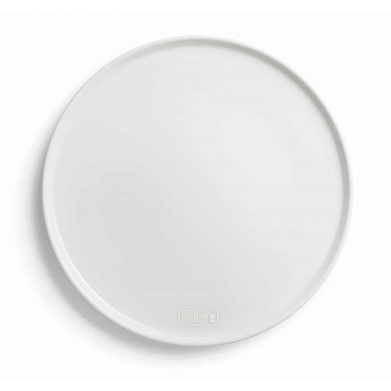 Weber Porzellan-Pizzateller Ø 30,5 cm Warmhalteplatte 2er Set