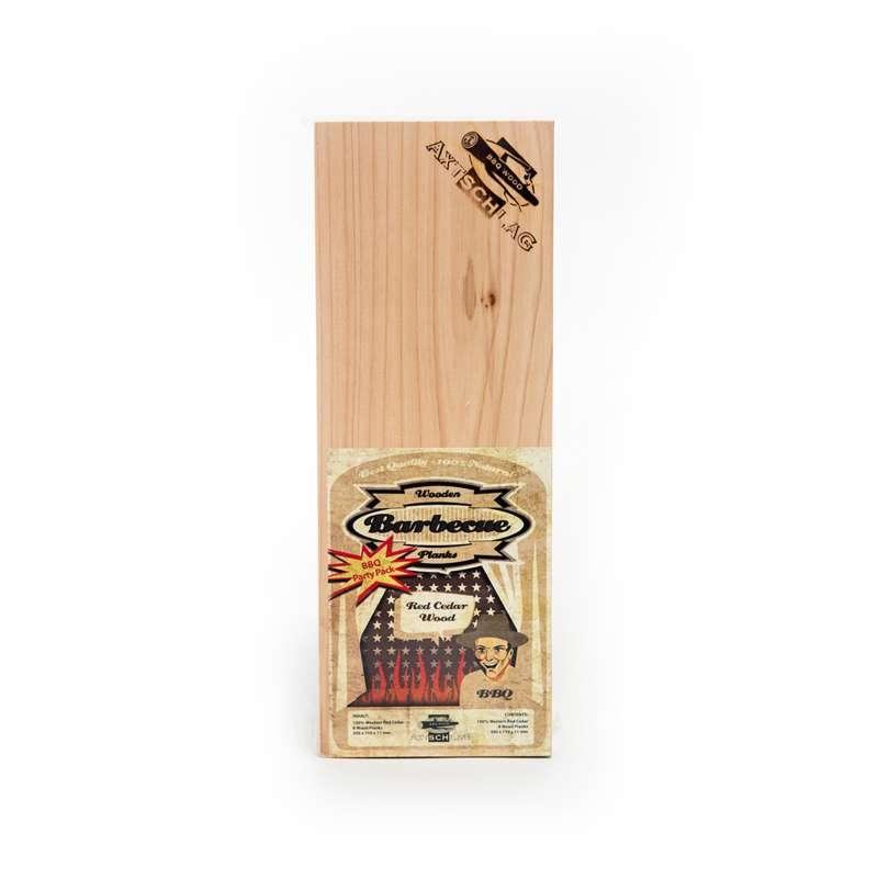 Axtschlag XL Western Red Cedar Wood Grillbrett Rotzeder 2er Pack 100G02M1201V