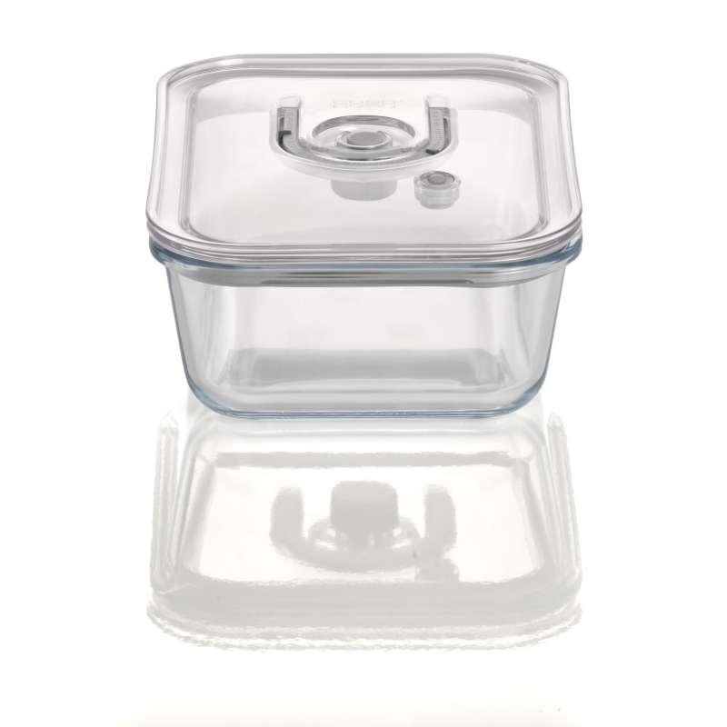 Caso VacuBoxx EXL eckig 1500 ml Glas Design Vakuumbehälter mikrowellengeeignet spülmaschinenfest