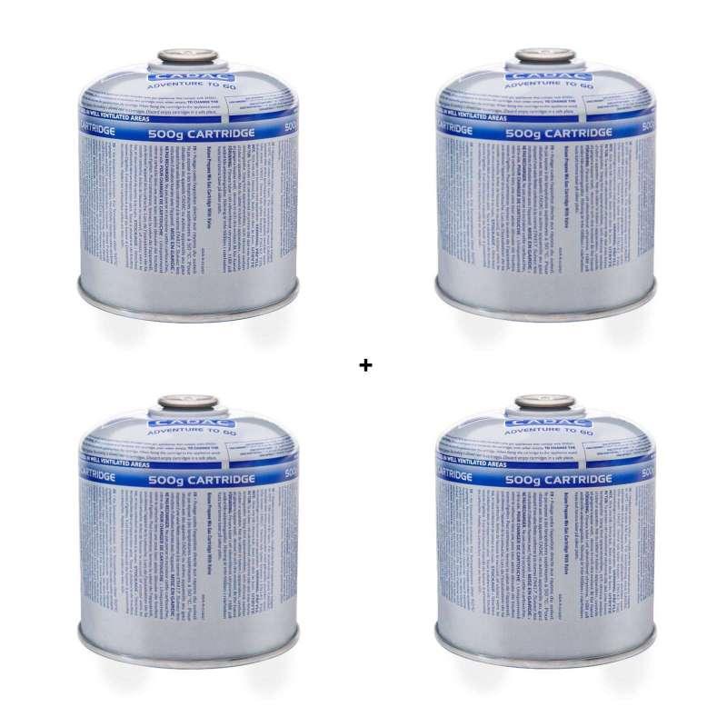 Cadac Gascartridge 4er Vorteils-Set Gaskartusche Button/Propan 500g EN417 CA500-N