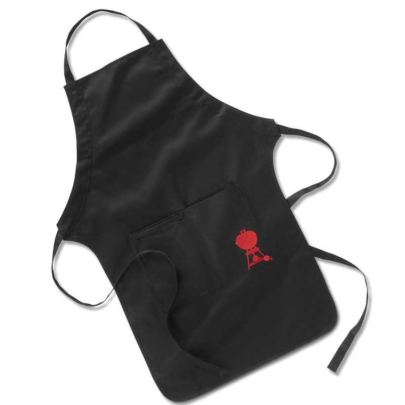 Weber Grillschürze schwarz mit rotem Kugelgrill
