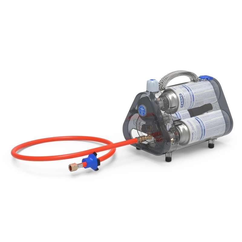 Cadac Trio Power Pak Gasdruckregler 50 mbar mit Schlauch für Gaskartuschen