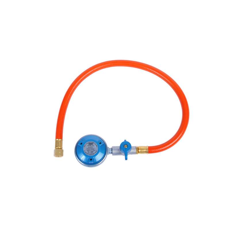 Cadac Gasdruckregler EN417 inkl. Schlauch Gewindeanschluss 50 mbar 1/4'' BSP Linksgewinde