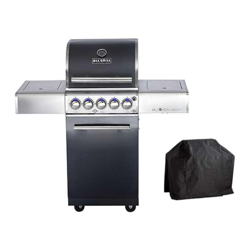 Allgrill Top-Line Modular Chef S Black Gasgrill Air System/Steakzone + Abdeckhaube 77902