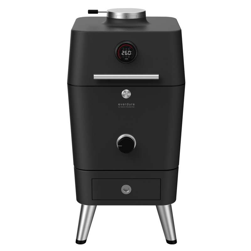 Everdure 4K Kohle- und elektrischer Outdoor Ofen mit elektr. Anzünder Graphite