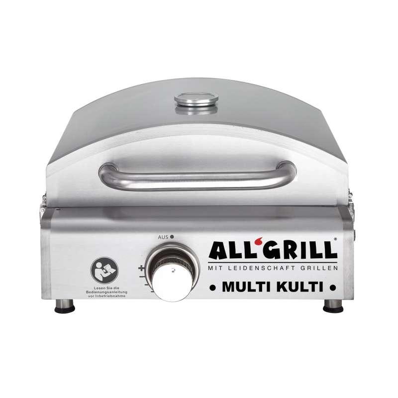 Allgrill MULTI-KULTI Gasgrill - Portabler, multifunktionaler Gasgrill Backofen