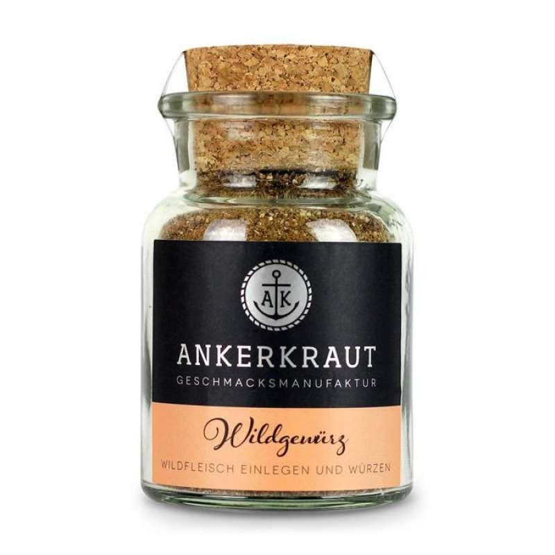 Ankerkraut Wild Gewürz Gewürzzubereitung Gewürzmischung für Wild im Korkenglas 75 g