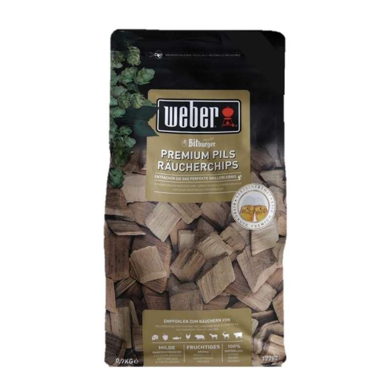 Weber Räucherchips Bitburger Premium Pils mit feinem Bieraroma 700 g 2019
