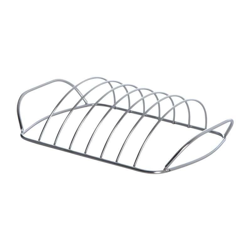 Allgrill Spareribs-Halter aus Edelstahl 30x18x8 cm