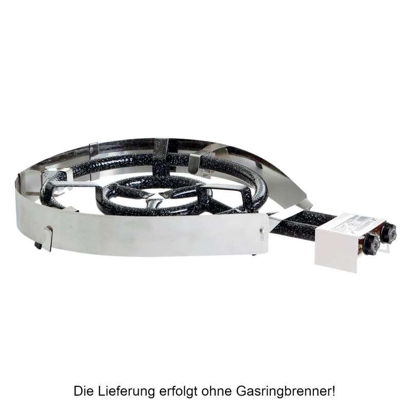 Paella World Variabler Hitze- und Windschutz für Paella-Brenner mit Ø 30-50 cm