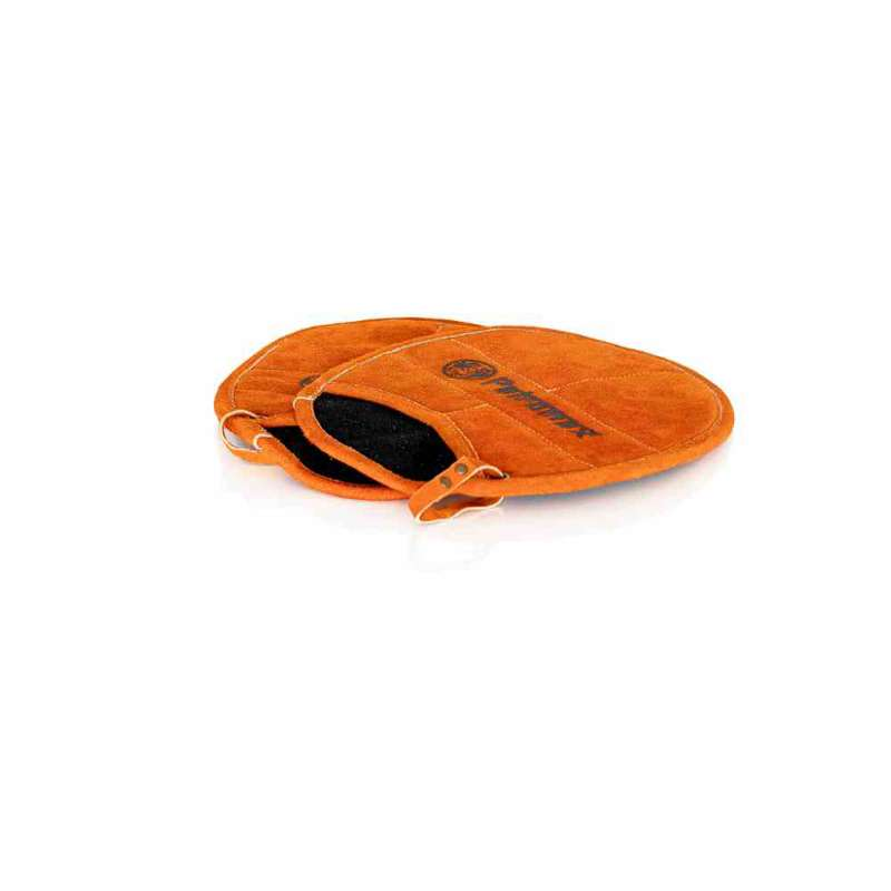 Petromax 2er-Set Topflappen oval mit Eingriff Aramid hitzebeständig rot-orange 28,5x22,5x2,5 cm