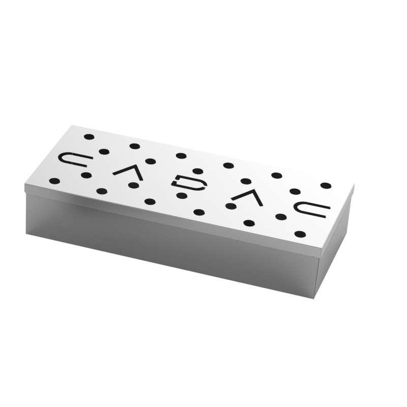 Cadac Universal Räucherbox aus Edelstahl für Holzkohle- und Gasgrills 98312V