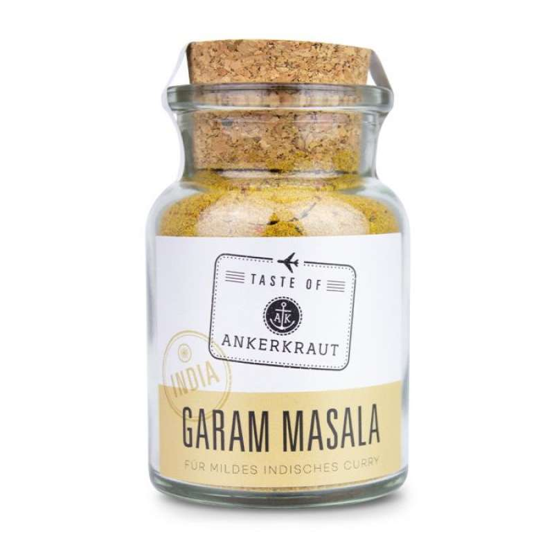 Ankerkraut Garam Masala (Indien) Gewürzzubereitung Gewürzmischung für Curry im Korkenglas 75 g