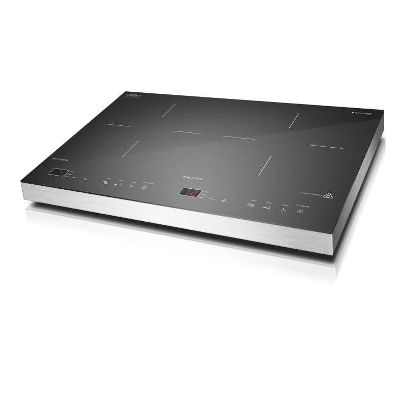Caso Design S-Line 3500 Mobiles Doppelinduktionskochfeld Kochplatte mit Smart Control