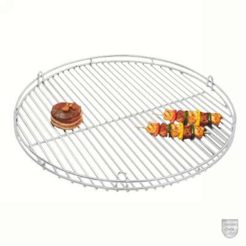 Schneider Grillrost aus Edelstahl Ø 50 cm mit Reling und Aufhängeösen