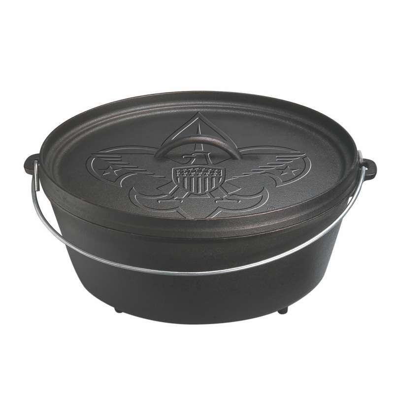 Rumo Barbeque Lodge Cast Iron Camp Dutch Oven mit Boy Scout Logo 5,7 L