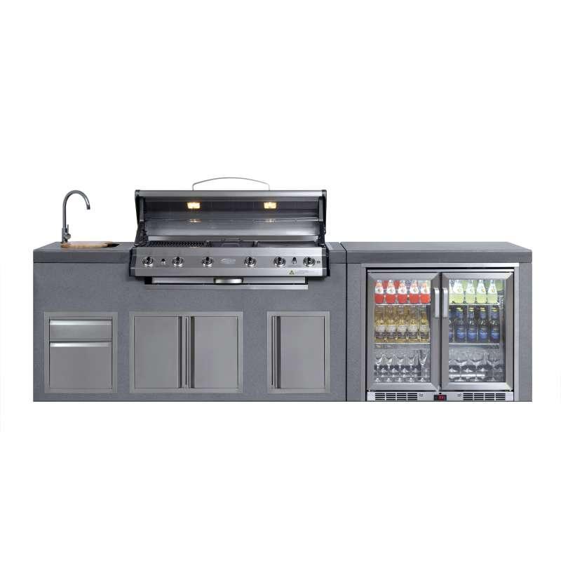 Everdure NEO Outdoor Küche mit 6-Brenner Gasgrill Doppelkühlschrank und Spülbecken NEOOUTDOOR
