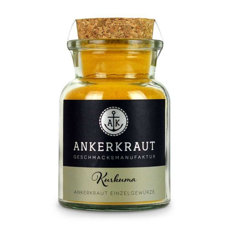 Ankerkraut Kurkuma, gemahlen Einzelgewürz Gewürzzubereitung im Korkenglas 75 g