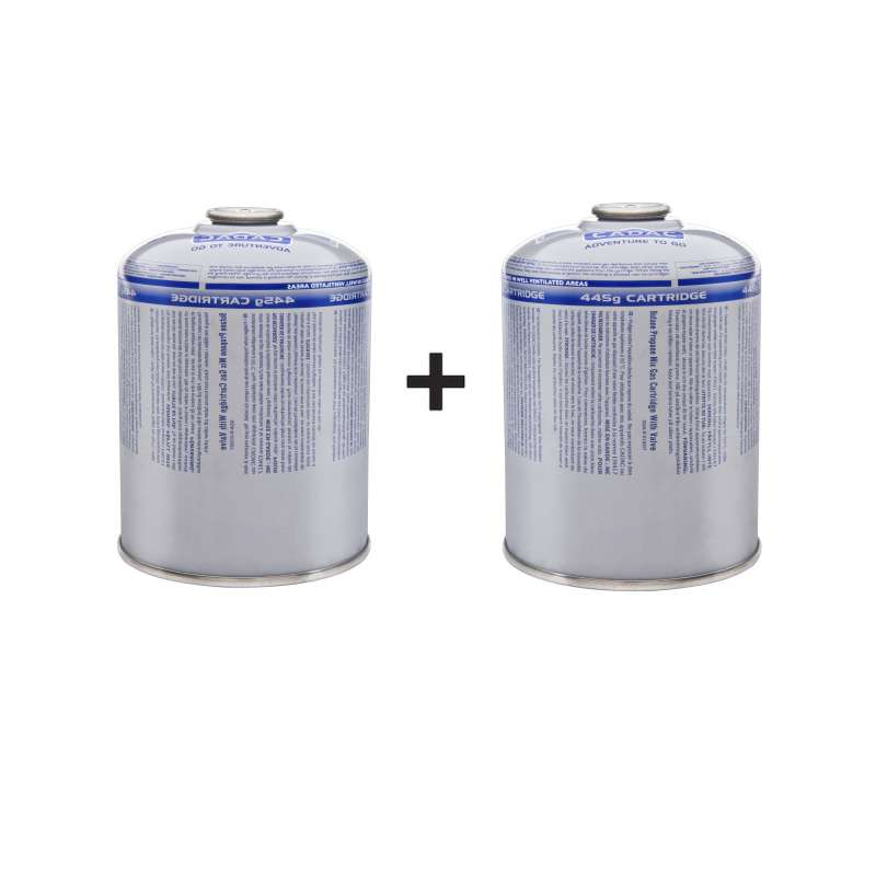 Cadac Gascartridge 2er Vorteils-Set Gaskartusche Button/Propan 445g 2xCA445-N
