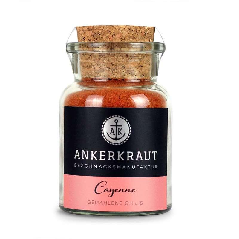 Ankerkraut Cayennepfeffer im Korkenglas 65 g gemahlene Chilis Chiligewürz