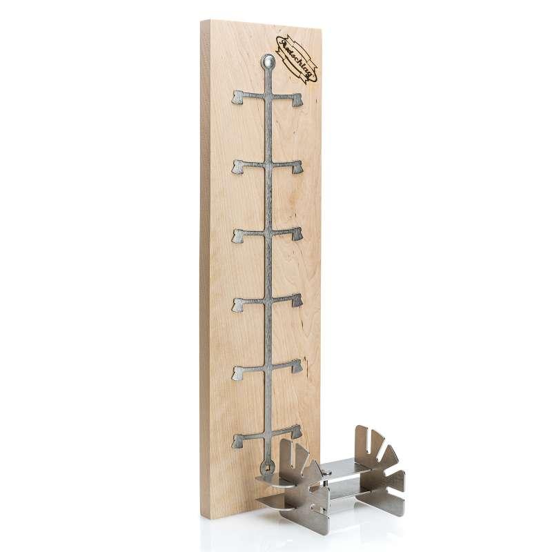 Axtschlag Flammlachsbrett Essential Line 50 x 14 x 2 cm Birkenholz für Feuerschalen & Feuertonnen