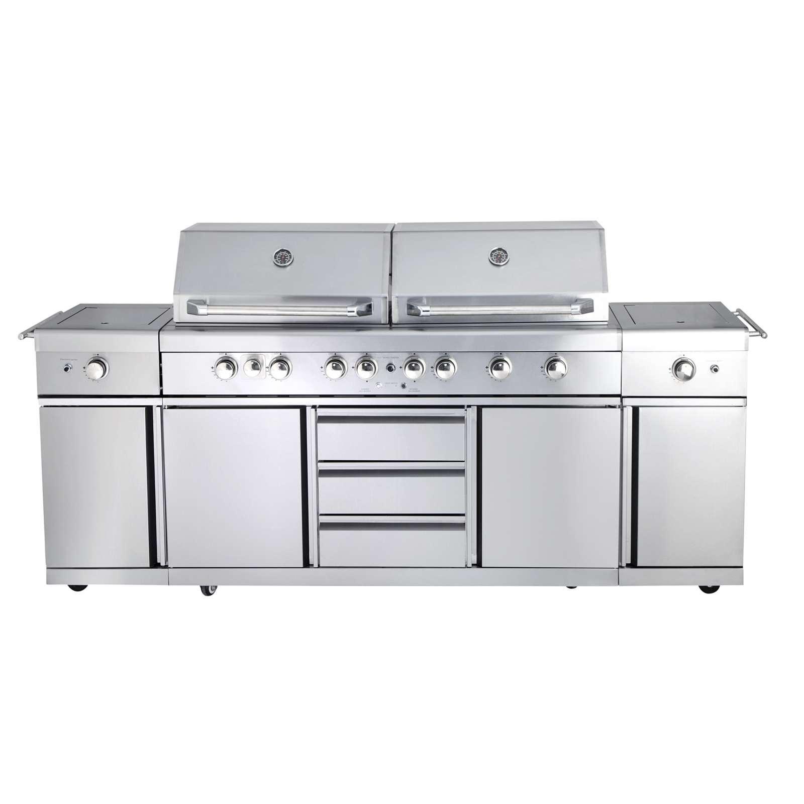 Allgrill Top-Line Extrem Gasgrill Volledelstahl Outdoor Küche