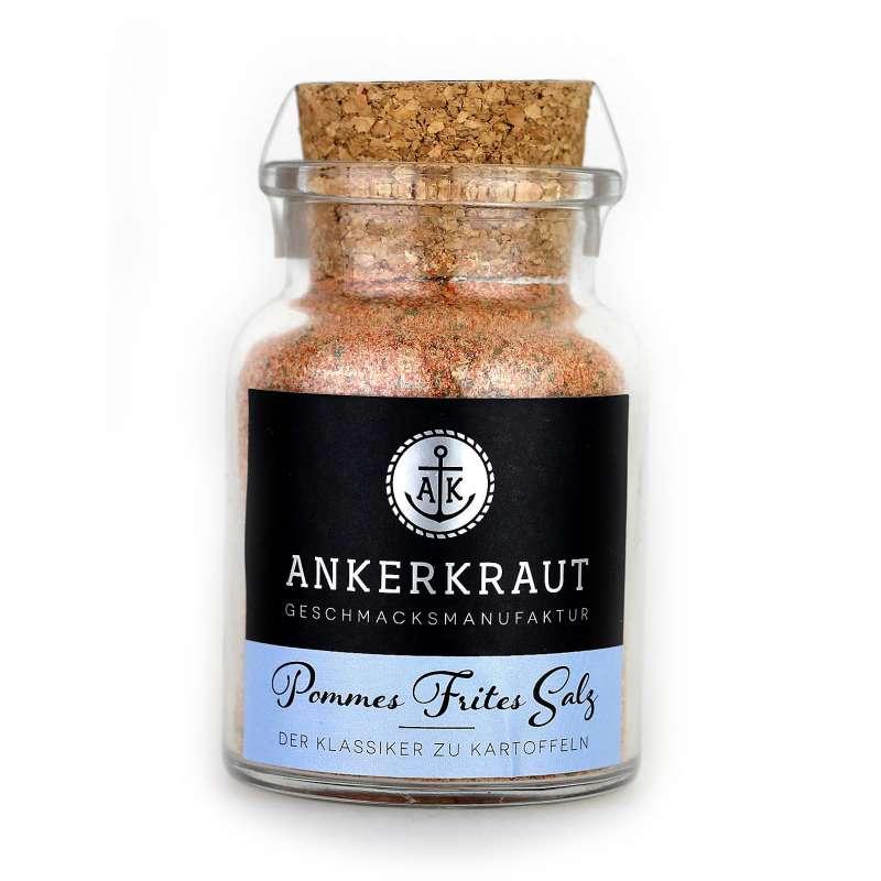 Ankerkraut Pommes Frites Salz Meersalz im Korkenglas 130 g Pommesgewürz