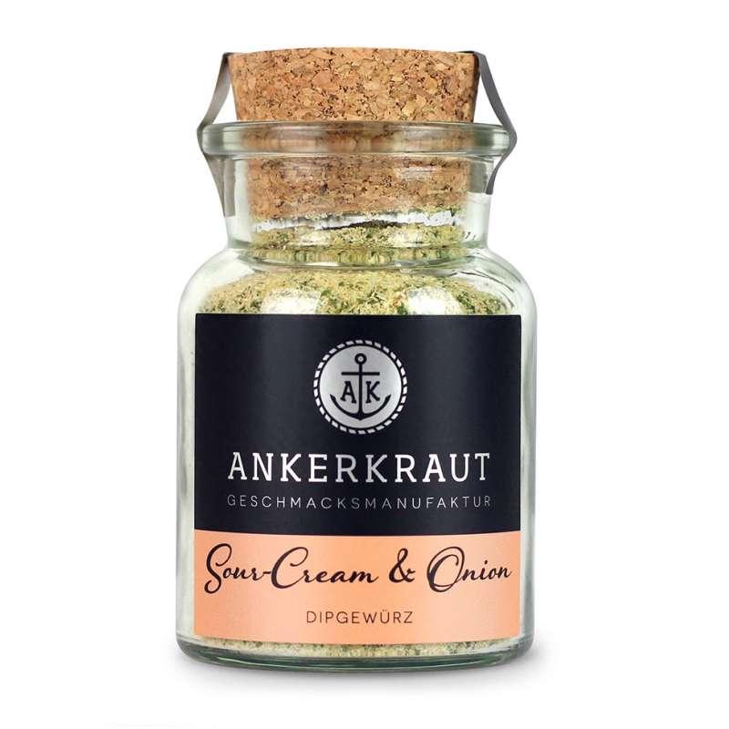 Ankerkraut Sour-Cream & Onion Dipgewürz Korkenglas 80 g Gewürzmischung