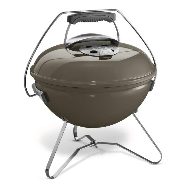Weber Vorteils-Set 4-teilig Holzkohlegrill Smokey Joe Premium ø 37 cm Smoke Grey mit gratis Holzkohl