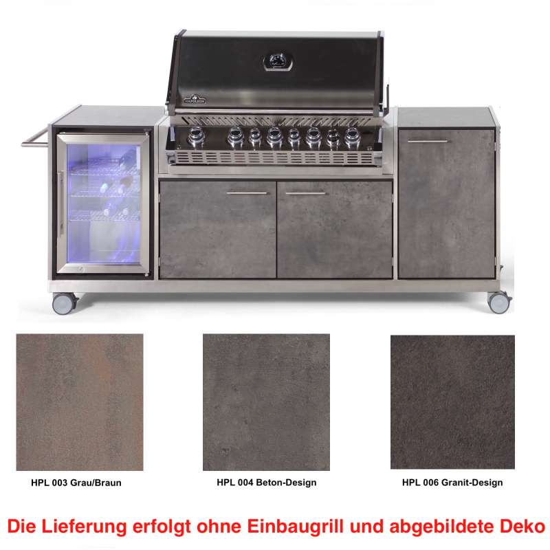 Niehoff Garden Outdoor-Küche Basic ca. 225,5x95,6x55 cm HPL Front Grillwagen