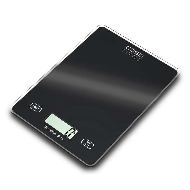 Caso Design Digitale Küchenwaage Slim Flaches Design mit Glasoberfläche