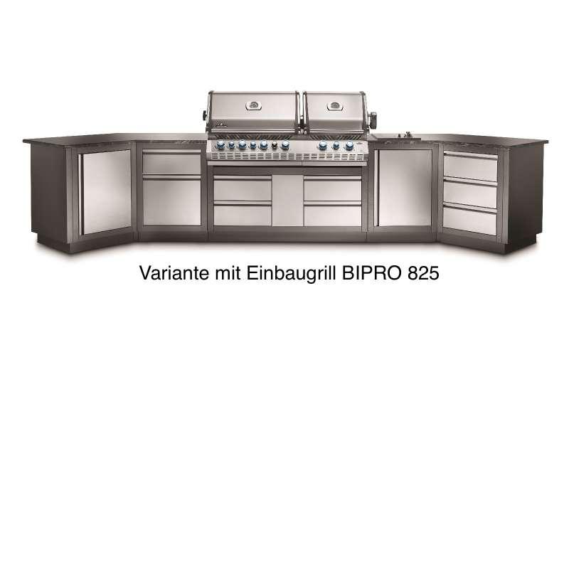 Napoleon Outdoorküche Oasis 400 Modulare Außenküche Einbaugrill