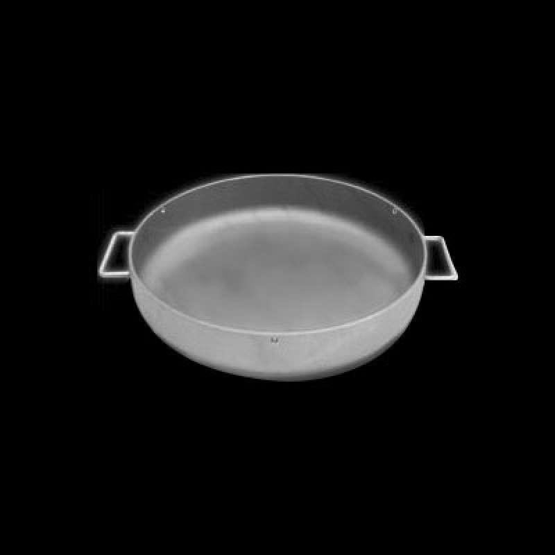 Schneider Eisenpfanne mit 2 Griffen Ø 50 cm Grillpfanne Grillzubehör