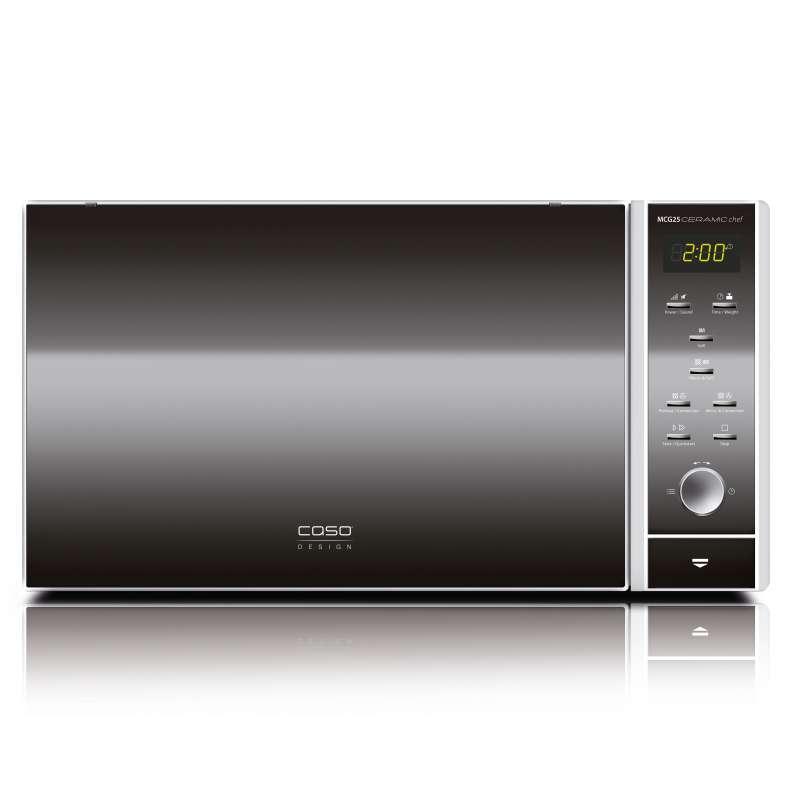 Caso Design MCG 25 Ceramic Chef 3 in 1 Mikrowelle 900 Watt mit Heissluft- und Grillfunktion 25 L