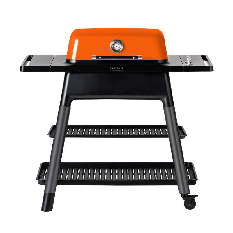 Everdure Force 2021 Gasgrill 2-Brenner mit Doppelboden Farbe Orange HBG2O2DE