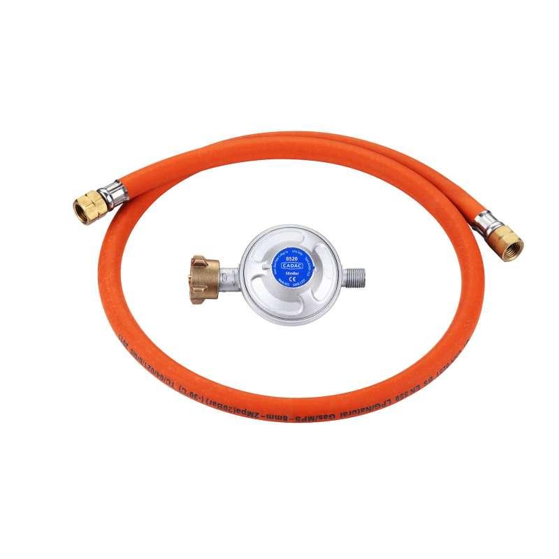 Cadac Gasdruckregler Universalregler 50mbar inkl. Schlauch 1/4'' BSP Linksaußengewinde