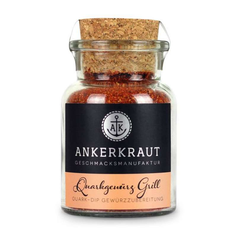 Ankerkraut Quarkgewürz Grill Gewürzzubereitung für Quark und Dips im Korkenglas 95 g