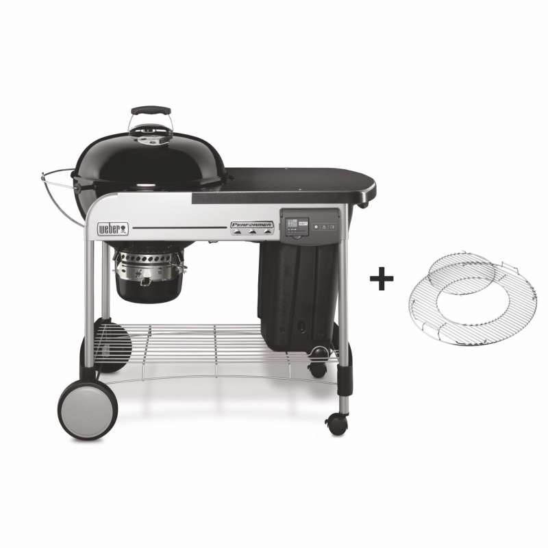 Weber Holzkohlegrill Performer Deluxe GBS Charcoal Grill Ø 57 cm Black